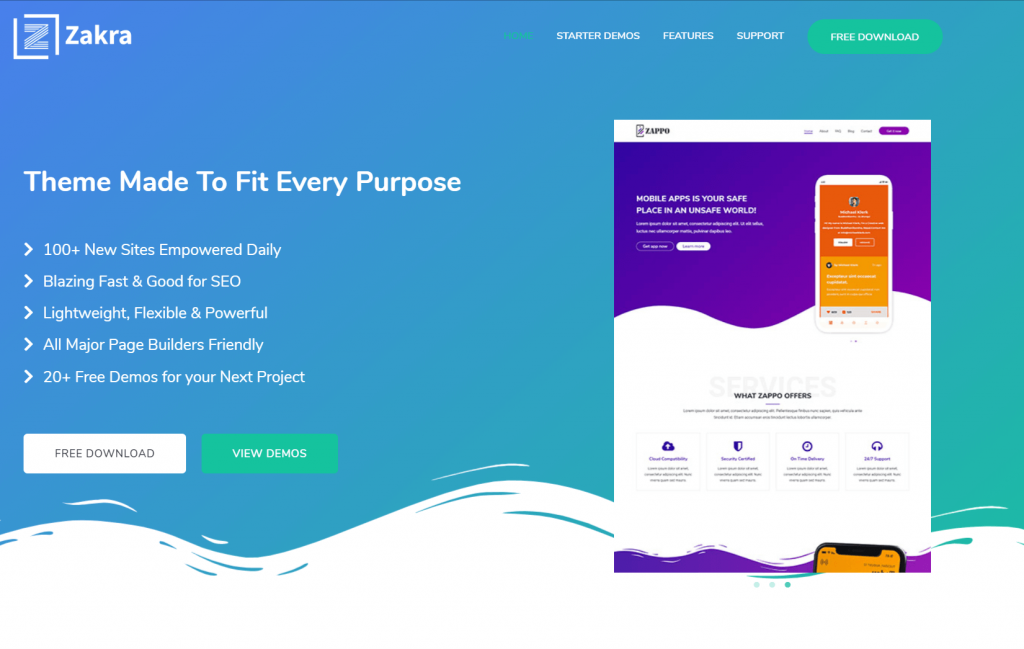 Zakra - Free MultiPurPose WordPress The