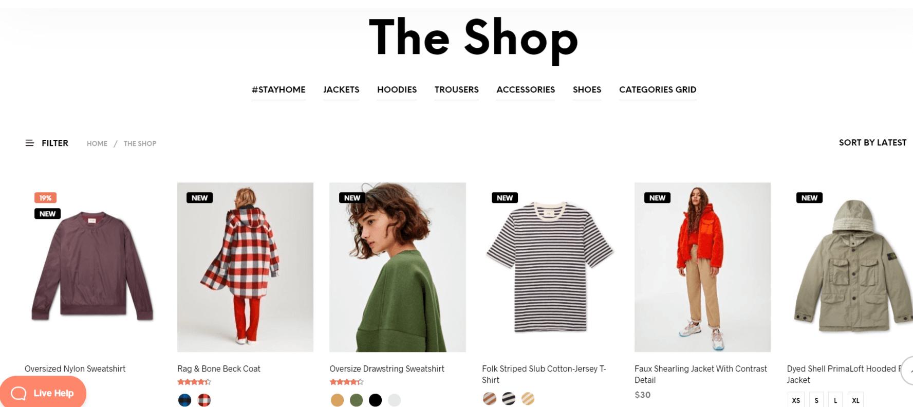 قالب Shopkeeper