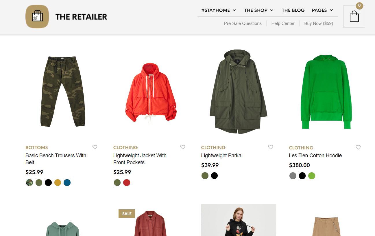 The Retailer قالب